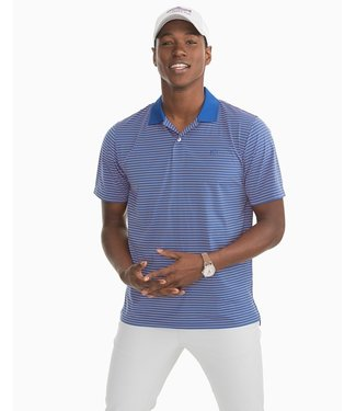 Southern Tide M SS Barrier Stripe Performance Polo
