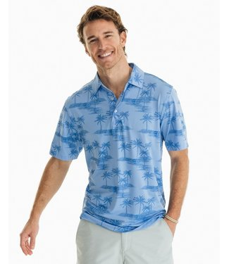 Southern Tide M SSDriverPalmPrintPerfPolo