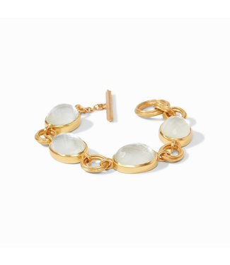 Julie Vos BARCELONA BRACELET  IRIDESCENT CLEAR CRYSTAL