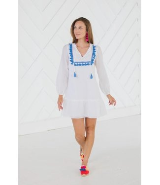 Sail to Sable TASSEL FRONT FLOUNCE DRESS
