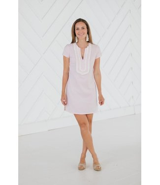 Sail to Sable SHORT SLEEVE TUNIC DRESS - Blush