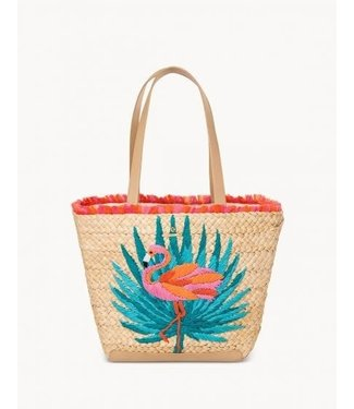 Spartina MORELANDEMBROIDERED STRAW TOTE