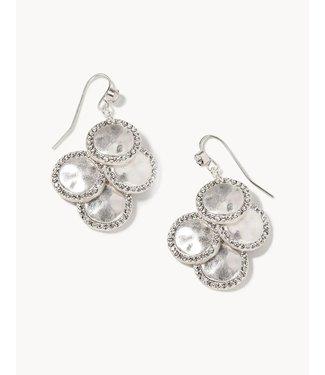 Spartina Aura Chandelier Earrings Crystal SIL