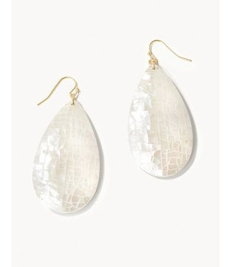 Spartina Crushed Pearl Earrings Teardrop White