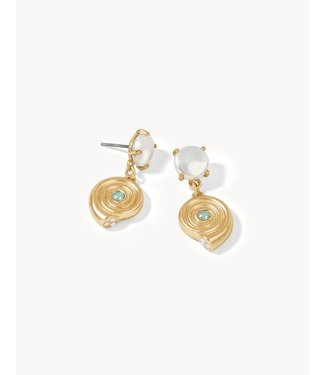 Spartina MOON SHELL EARRINGS PEARL