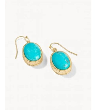Spartina NAIA OVAL EARRINGS TURQUOISE