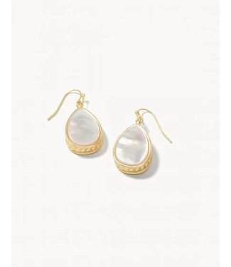 Spartina Naia Teardrop Earrings Pearlescent