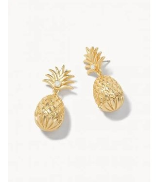 Spartina Sweet Pineapple Earrings Gold