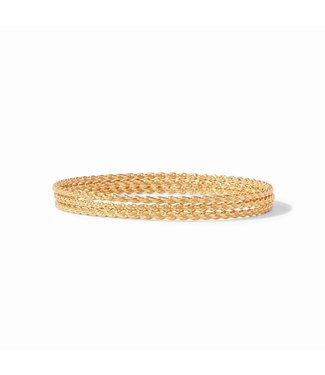 Julie Vos CASCADE TRIO BANGLES GOLD SMALL