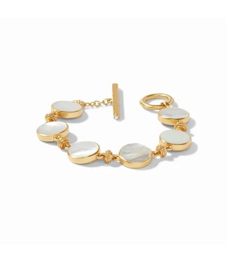 Julie Vos COIN DOUBLE SIDED BRACELET GOLD MOTHER OF PEARL