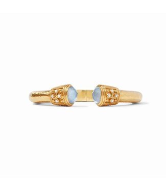 Julie Vos PARIS DEMI HING CUFF GOLD P0EARL WITH ZIRCON ACCENTS