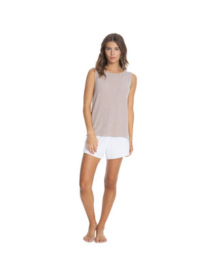 Barefoot Dreams SLEEVELESS BOATNECK TEE