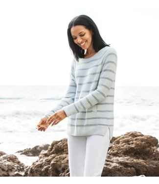 Barefoot Dreams STRIPED RAGLAN PULLOVER