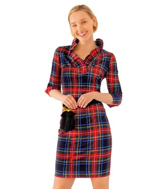 Gretchen Scott JDRNDY RUFFNECK DRESS DUKE