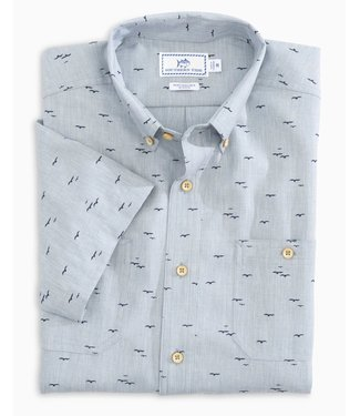 Southern Tide M SS Dock Seagull Sportshirt