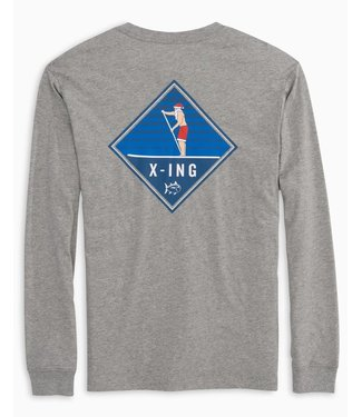 Southern Tide M LS Holiday Crossing Tee