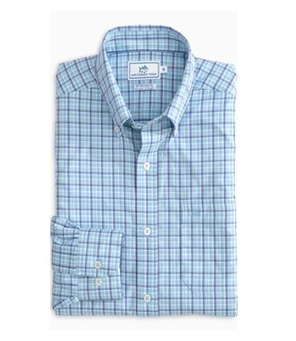 Southern Tide M LS Staycation Plaid IC Sportshirt