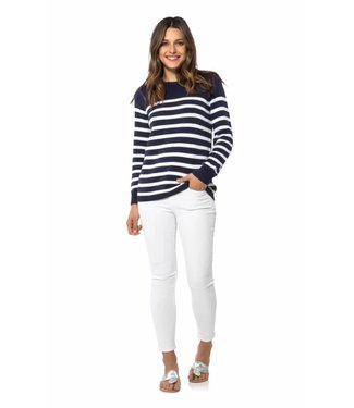 Sail to Sable R1836 Long Sleeve Stripe Sweater