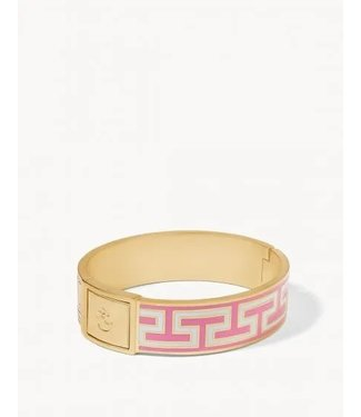 Spartina OVAL HINGED ENAMEL BANGLE PINK