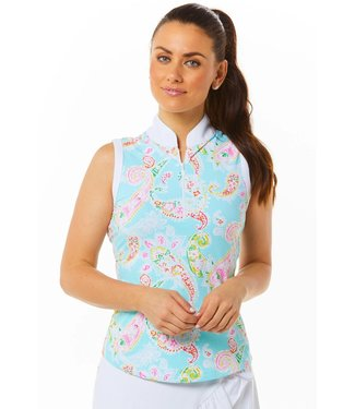 IBKUL SLEEVELESS ZIP MOCK SHARON