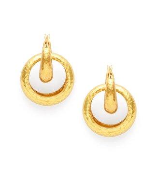 Julie Vos Catalina 2-in-1 Hoop Gold Earring