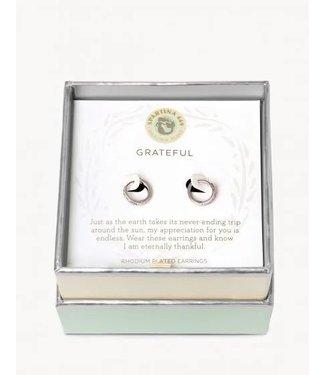 Spartina SLV Hoop Earrings Grateful/Ring SIL