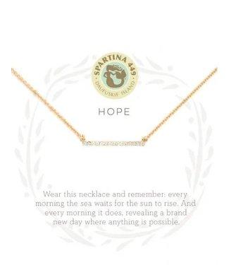 """Spartina Sea La Vie Necklace 18"""" Hope/Horizon"""