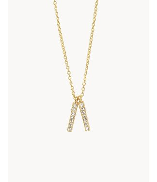 """Spartina SLV Necklace 18"""" Lean On Me/Double Bars"""