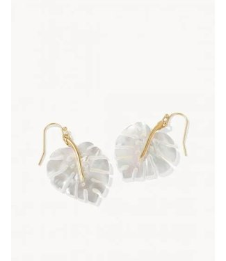 Spartina MONSTERA EARRINGS PEARLESCENT