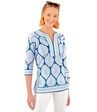 Gretchen Scott SPLIT NECK TUNIC