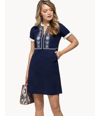 Spartina Harper Linen Dress - Navy