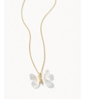 """Spartina MONARCH CARVED NECKLACE 17"""" MOTHER-OF-PEARL"""