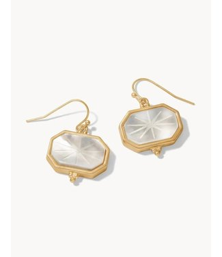 Spartina WINDOW CARVED EARRINGS MOTHER-OF-PEARL