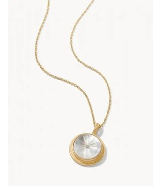 """Spartina ROUND CARVED NECKLACE 17"""" MOTHER-OF-PEARL"""