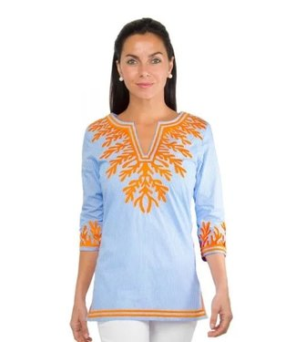 Gretchen Scott EMBROIDERED REEF TUNIC