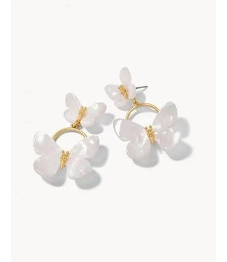 Spartina MONARCH STATEMENT EARRINGS WHITE