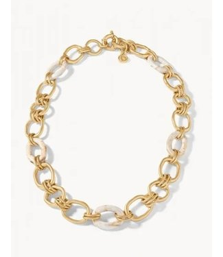 "Spartina HARBOR RESIN CHAIN NECKLACE 18"" CREAM"