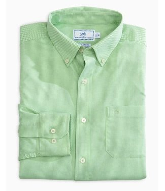 Southern Tide M LS POINT PINOS MICRO GINGHAM IC SPORTSHIRT