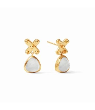 Julie Vos SOHO MIDI EARRING-GOLD AND IRIDESCENT CLEAR CRYSTAL