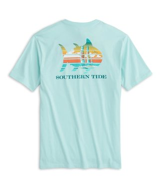 Southern Tide M SS Catamaran Sunset Tee