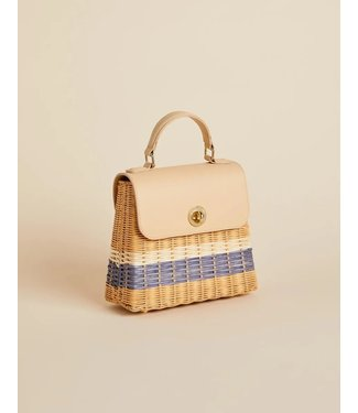 Spartina RATTAN TOP HANDLE CROSSBODY OYSTER ALLEY