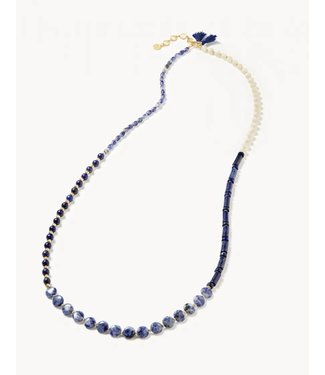 """Spartina BEADED WRAP 33.5"""" OYSTER ALLEY"""