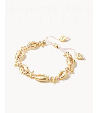 Spartina COWRIE STARFISH SLIDE BRACELET GOLD
