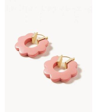 Spartina MOD DAISY HOOP EARRING - PINK