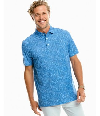 Southern Tide M SS Driver Tailgate Perf Polo
