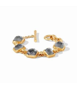 Julie Vos SAVOY DEMI BRACELET GOLD IRIDESCENT CHARCOAL BLUE