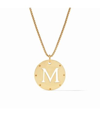 Julie Vos MONOGRAM PENDANT GOLD - M