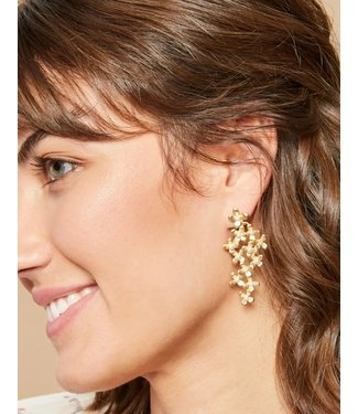 Spartina DRIPPING IN FLOWERS EARRINGS PEARL