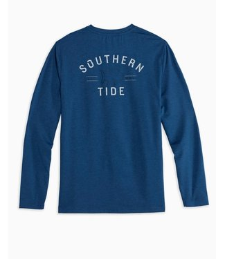 Southern Tide M LS Curved ST Heather PerfTee