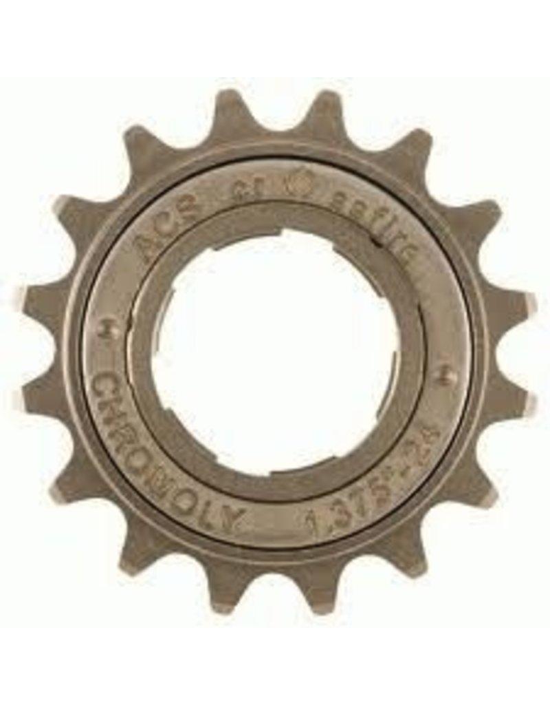 ACS Crossfire Single Freewheel 16T 3/32 Gun Metal